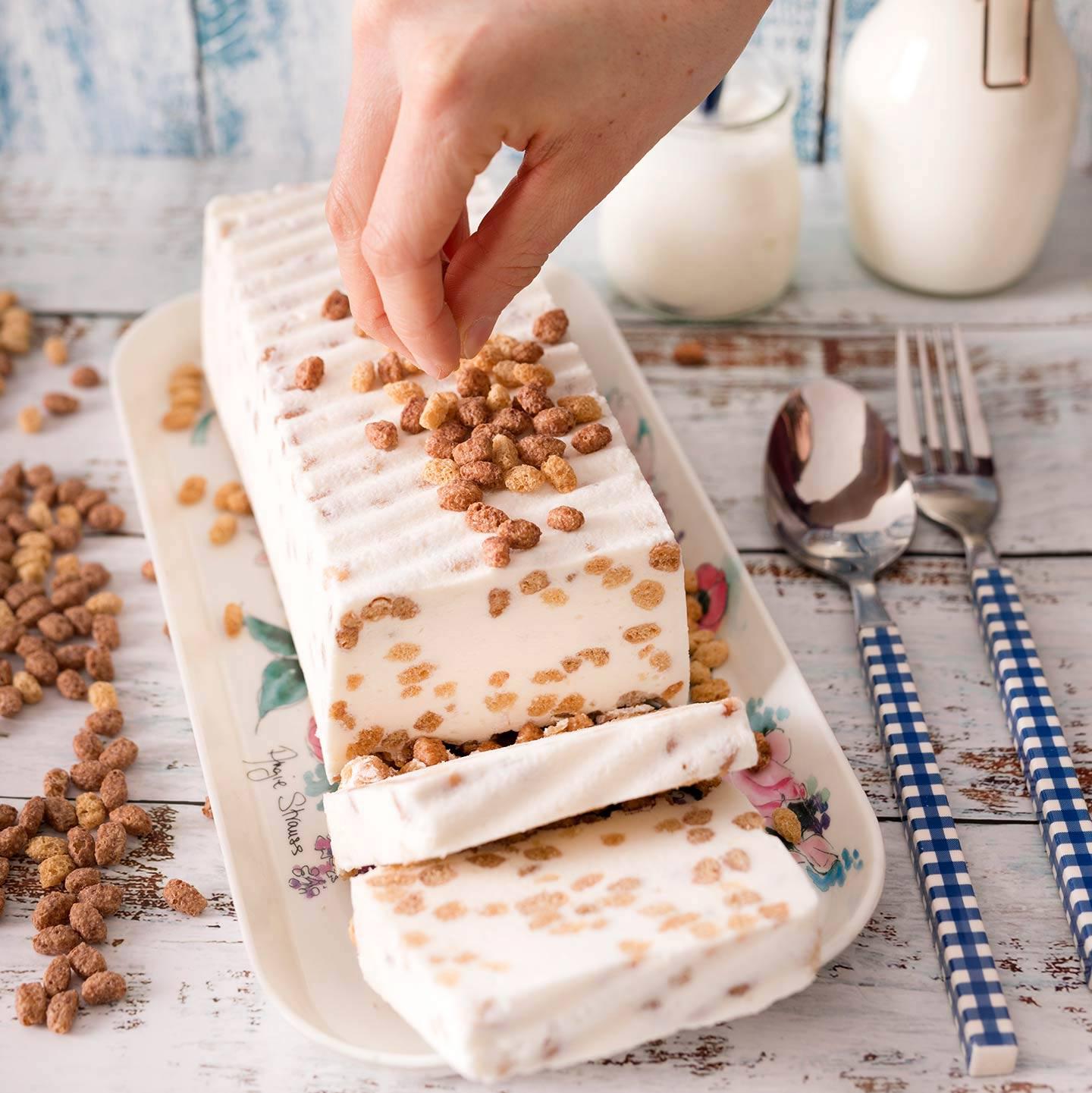 Tarta Helada de Yogur y Crujientes de Avena