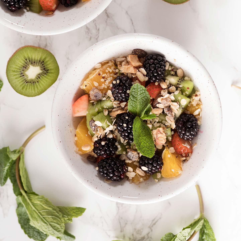Ensalada de Fruta y Quinoa con Muesli